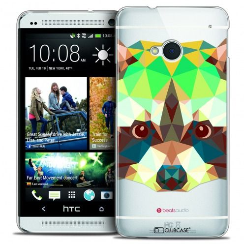 Coque Crystal HTC One (M7) Extra Fine Polygon Animals - Raton Laveur