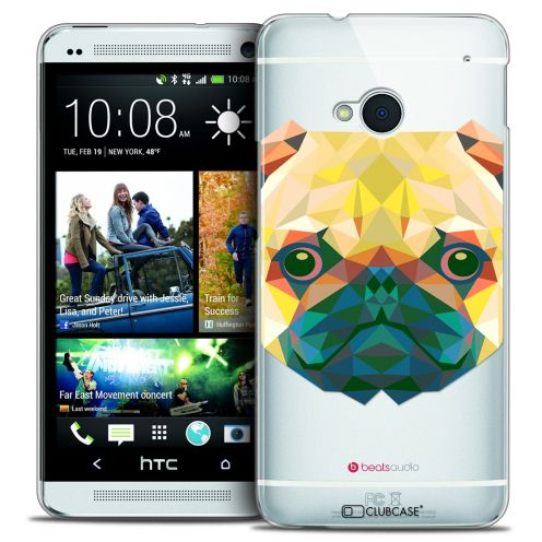 Carcasa Crystal Extra Fina HTC One (M7) Polygon Animals Perro