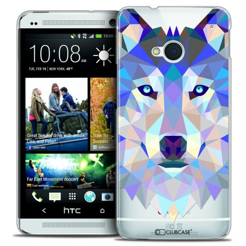 Carcasa Crystal Extra Fina HTC One (M7) Polygon Animals Lobo