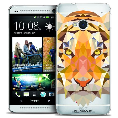 Extra Slim Crystal HTC One (M7) Case Polygon Animals Tiger