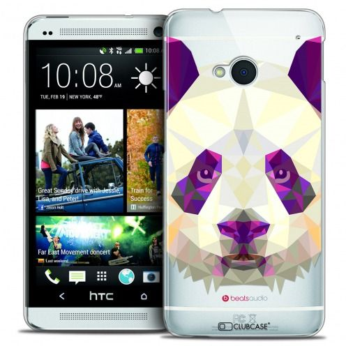Carcasa Crystal Extra Fina HTC One (M7) Polygon Animals Panda