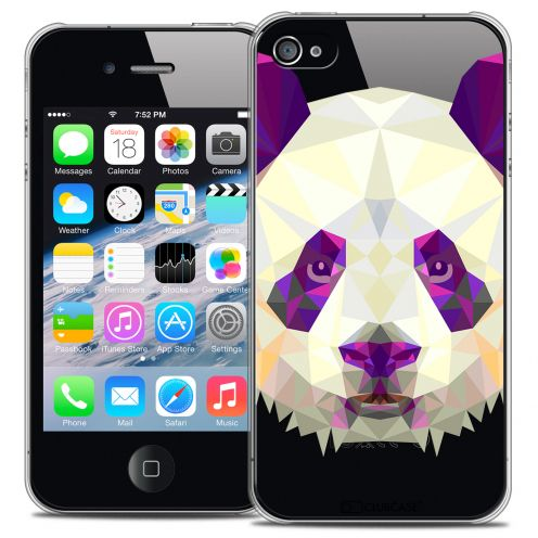 Coque Crystal iPhone 4/4S Extra Fine Polygon Animals - Panda