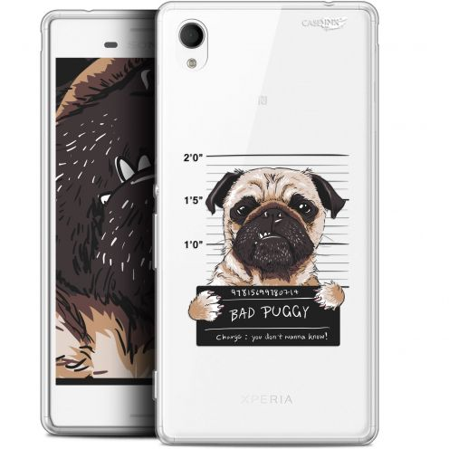 "Extra Slim Gel Sony Xperia M4 Aqua (5"") Case Design Beware The Puggy Dog"