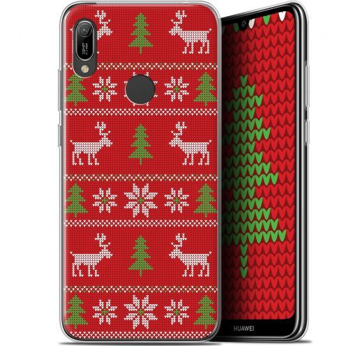 "Coque Gel Huawei Y6 2019 (6.1"") Extra Fine Noël 2017 - Couture Rouge"