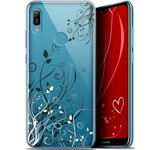 "Coque Gel Huawei Y6 2019 (6.1"") Extra Fine Love - Hearts Flowers"