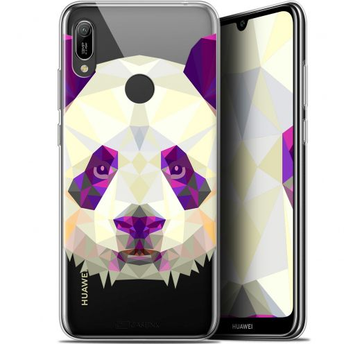 "Coque Gel Huawei Y6 2019 (6.1"") Extra Fine Polygon Animals - Panda"