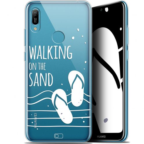 "Coque Gel Huawei Y6 2019 (6.1"") Extra Fine Summer - Walking on the Sand"