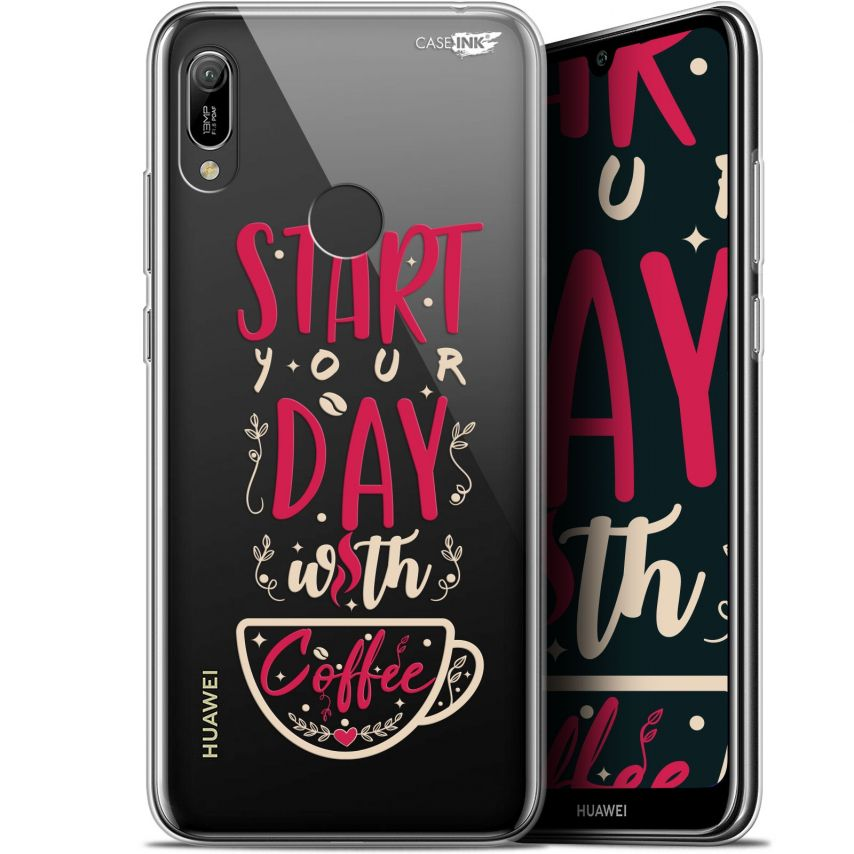 "Coque Gel Huawei Y6 2019 (6.1"") Extra Fine Motif - Start With Coffee"