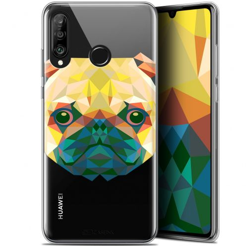 "Coque Gel Huawei P30 Lite (6.2"") Extra Fine Polygon Animals - Chien"
