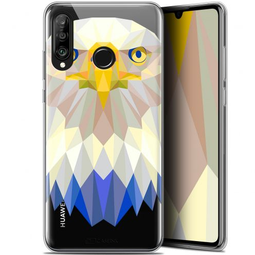 "Coque Gel Huawei P30 Lite (6.2"") Extra Fine Polygon Animals - Aigle"