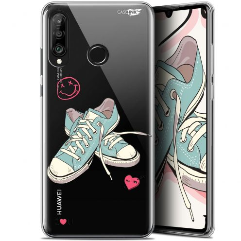 "Coque Gel Huawei P30 Lite (6.2"") Extra Fine Motif - Mes Sneakers d'Amour"