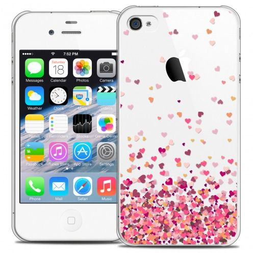 Coque Crystal iPhone 4/4s Extra Fine Sweetie - Heart Flakes