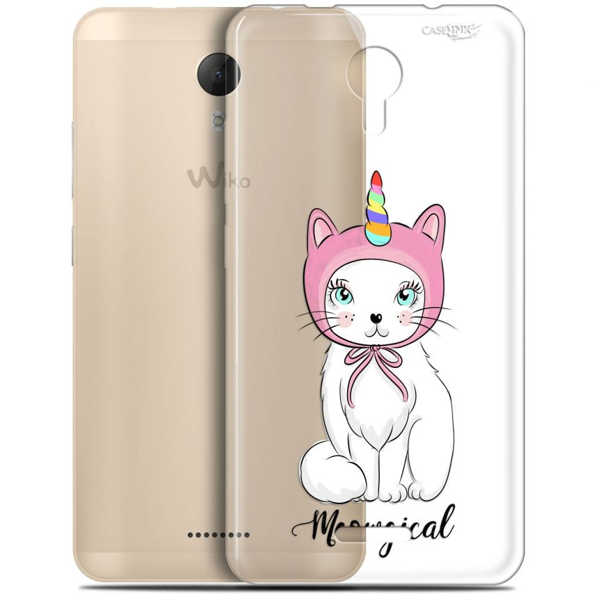 """Coque Gel Wiko Jerry 2 (5.0"""") Extra Fine Motif - Ce Chat Est MEOUgical"""