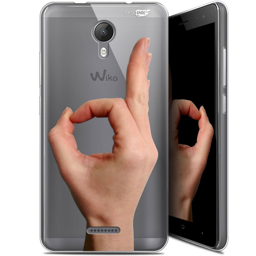 "Extra Slim Gel Wiko Jerry 2 (5.0"") Case Design Le Jeu du Rond"