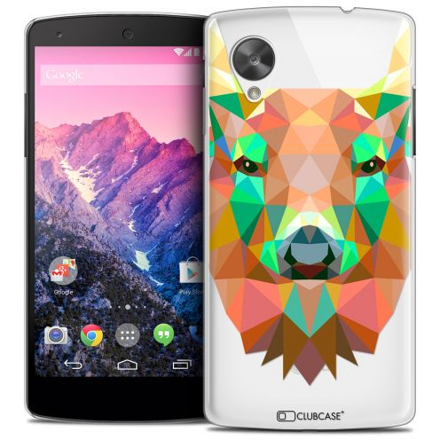 Coque Crystal Nexus 5 Extra Fine Polygon Animals - Cerf