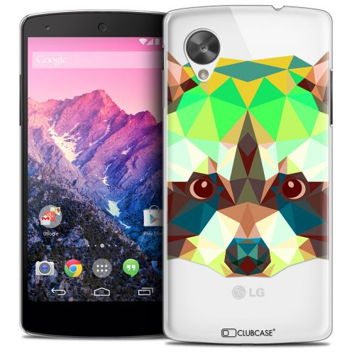 Coque Crystal Nexus 5 Extra Fine Polygon Animals - Raton Laveur