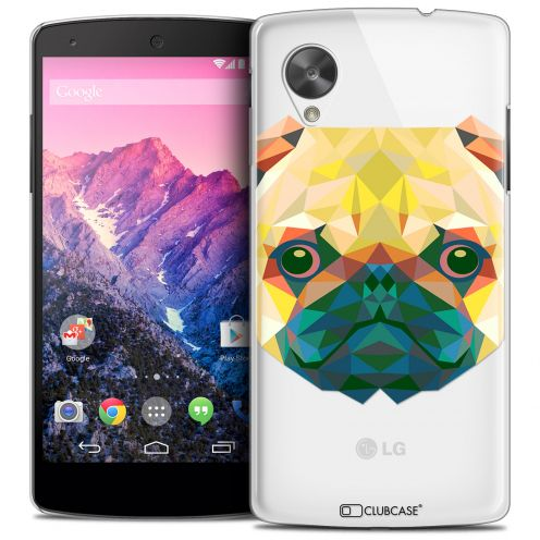 Coque Crystal Nexus 5 Extra Fine Polygon Animals - Chien