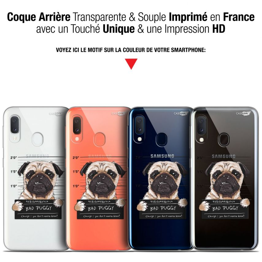 "Coque Gel Samsung Galaxy A20E (5.8"") Extra Fine Motif - Beware The Puggy Dog"