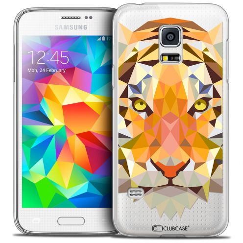 Coque Crystal Galaxy S5 Extra Fine Polygon Animals - Tigre