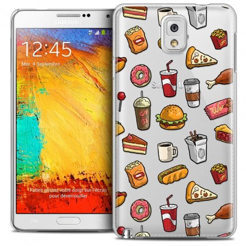 Coque Crystal Galaxy Note 3 Extra Fine Foodie - Fast Food