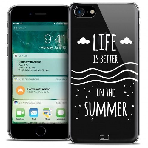 """Coque Crystal Gel Apple iPhone 7 (4.7"""") Extra Fine Summer - Life's Better"""