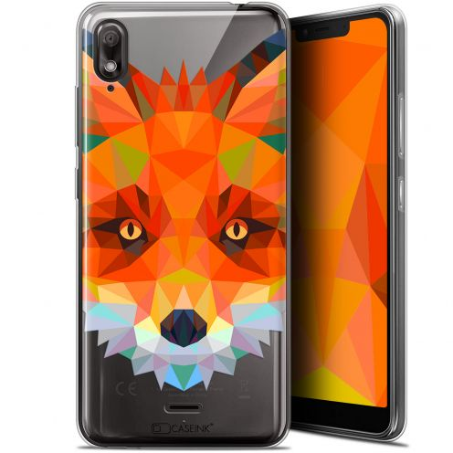 "Extra Slim Gel Wiko View 2 GO (5.93"") Case Polygon Animals Fox"