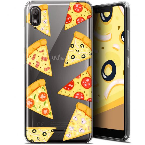 "Extra Slim Gel Wiko View 2 GO (5.93"") Case Foodie Pizza"