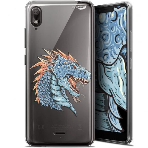 "Extra Slim Gel Wiko View 2 GO (5.93"") Case Design Dragon Draw"