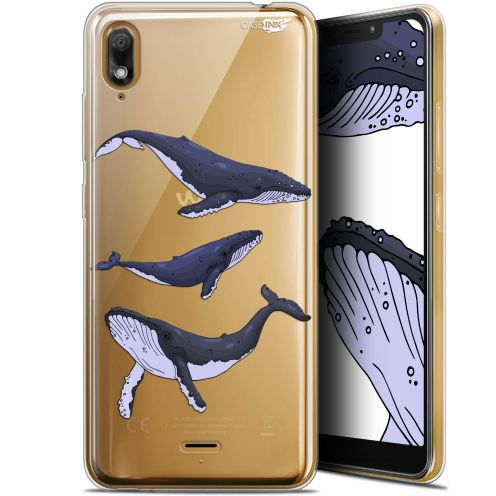 "Extra Slim Gel Wiko View 2 GO (5.93"") Case Design Les 3 Baleines"