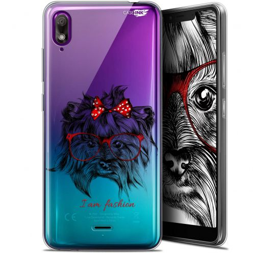 "Extra Slim Gel Wiko View 2 GO (5.93"") Case Design Fashion Dog"