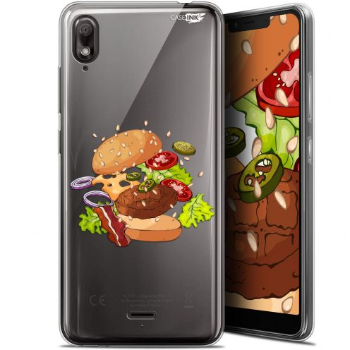 "Extra Slim Gel Wiko View 2 GO (5.93"") Case Design Splash Burger"