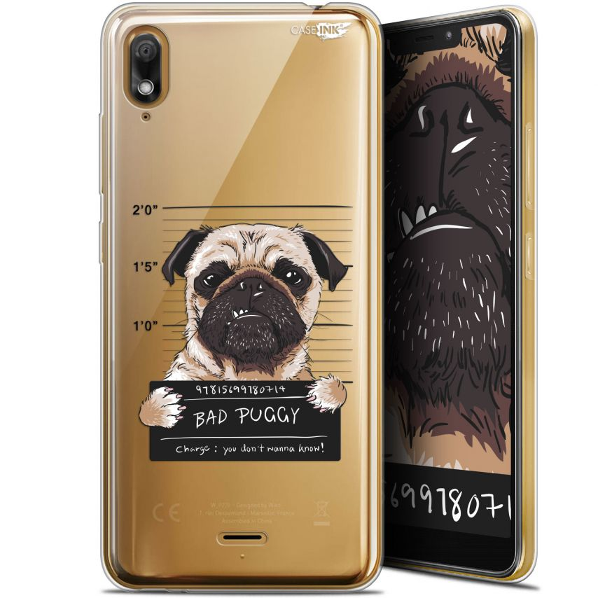 "Coque Gel Wiko View 2 GO (5.93"") Extra Fine Motif - Beware The Puggy Dog"