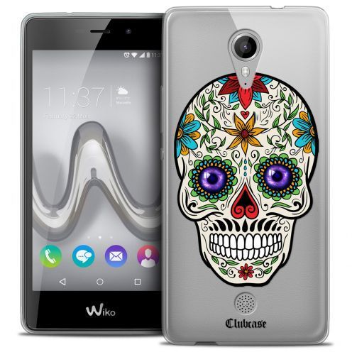 Coque Crystal Gel Wiko Tommy Extra Fine Skull - Maria's Flower