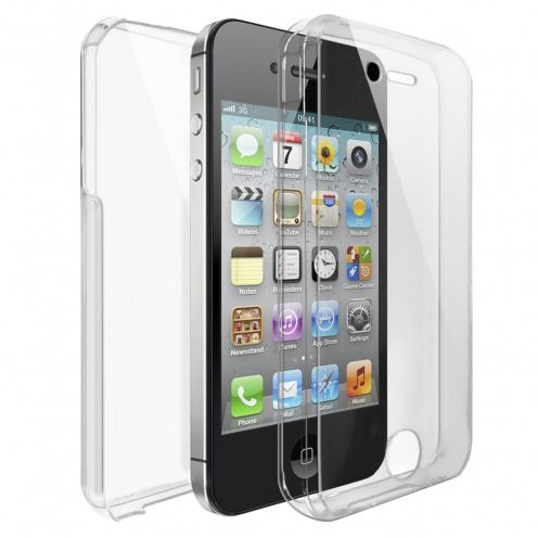 Coque Apple iPhone 4/4s Intégrale Gel Defense 360° transparente