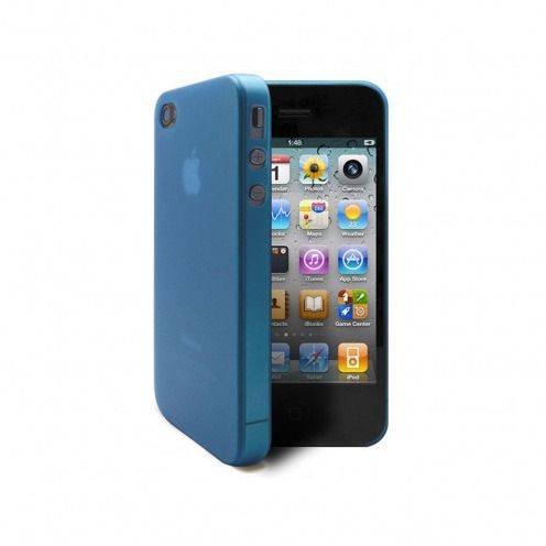 Coque Ultra Fine 0.3mm Frost iPhone 4/4S Bleue