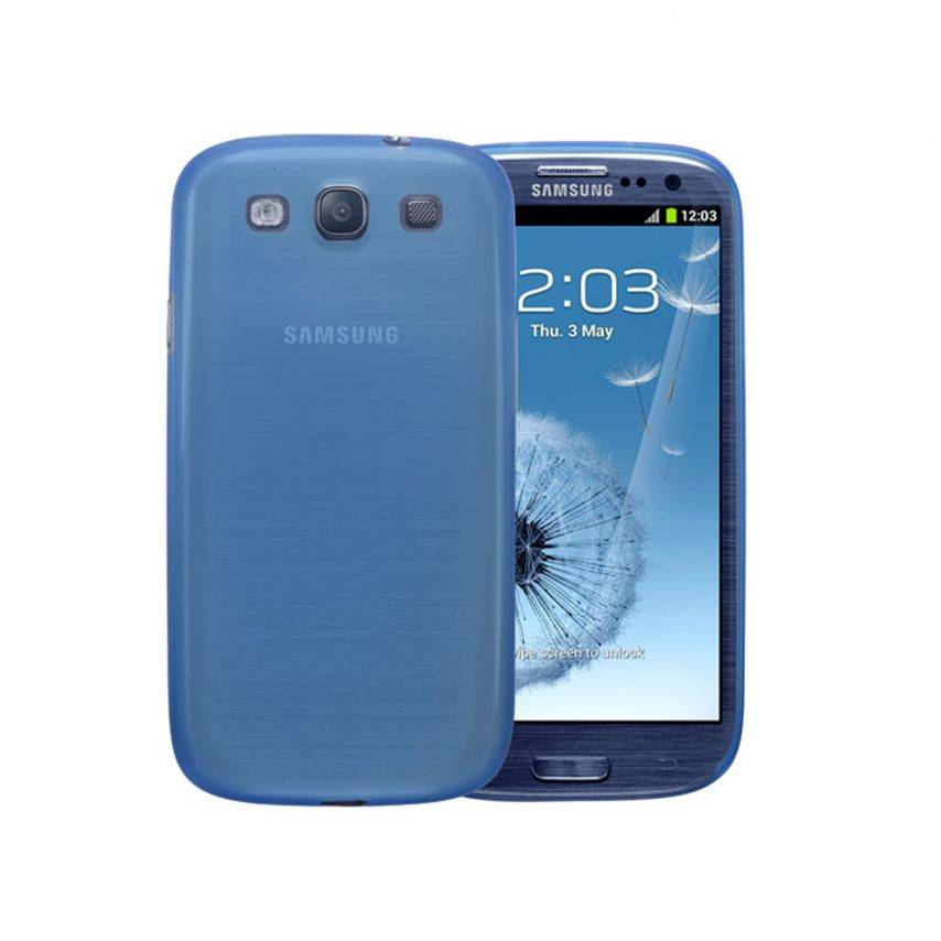 Ultra thin Case 0.3 mm Frost for Samsung Galaxy S3 Blue