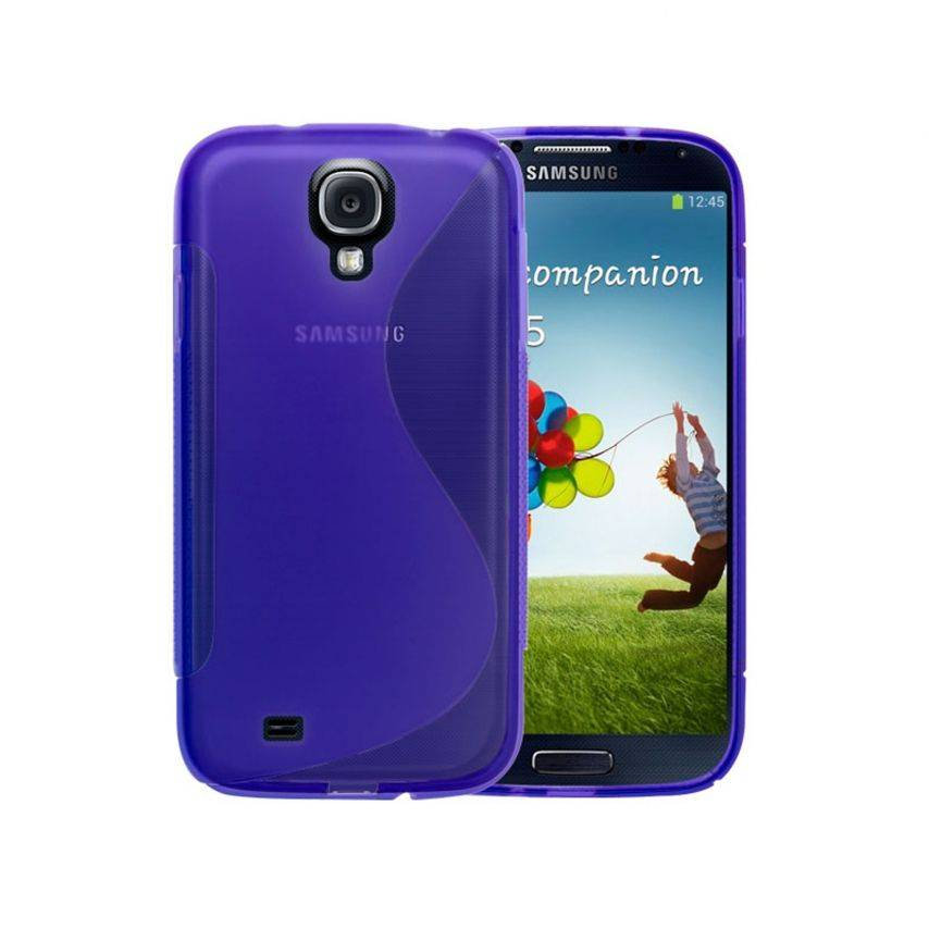 Photo réelle de Coque Samsung Galaxy S4 Tpu Basics SLine Violette