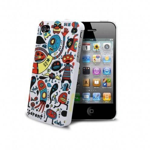 Coque Muvit® Doodle monstres iPhone 4S/4