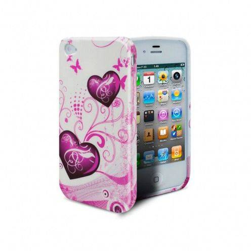 Coque iPhone 4S/4 Hearts ABSTRACTION Rose