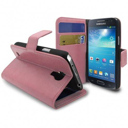 Smart Cover Samsung Galaxy S4 mini Cuirette Marbrée Rose