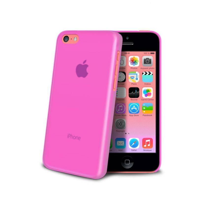 Zoom sur Coque Ultra Fine 0.3mm Frost iPhone 5C Rose