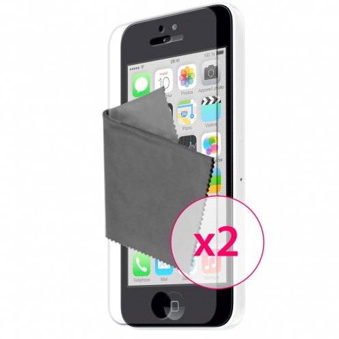 Films de protection anti traces de doigts iPhone 5C Clubcase ® Lot de 2