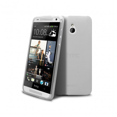 Frozen Ice Extra Slim soft white case for HTC One mini