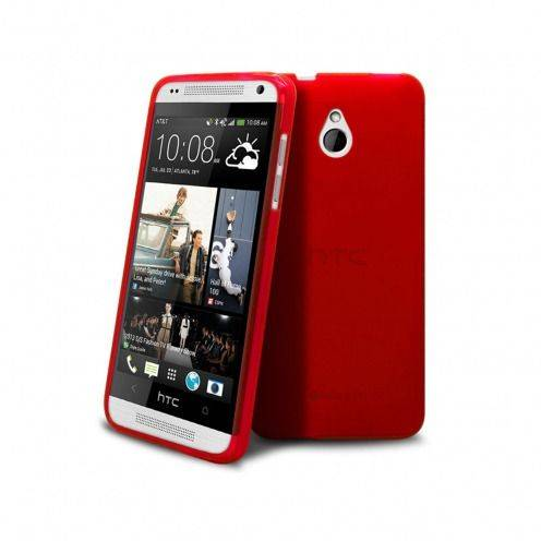 Frozen Ice Extra Slim soft red case for HTC One mini