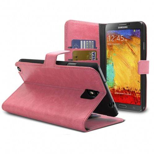 Smart Cover Samsung Galaxy Note 3 Cuirette Marbrée Rose