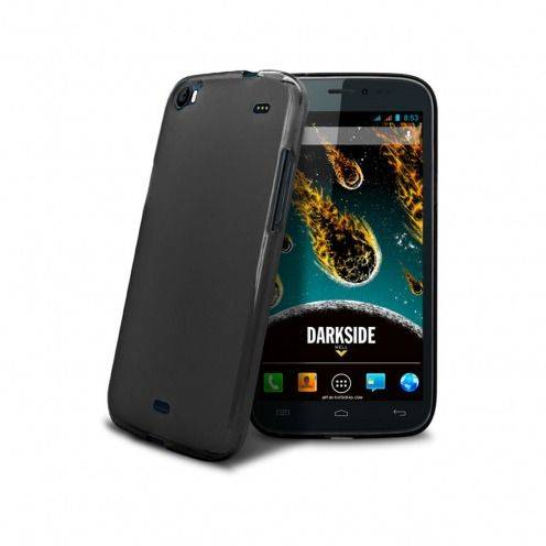 Coque Wiko DARKSIDE Frozen Ice Extra Fine Noir opaque