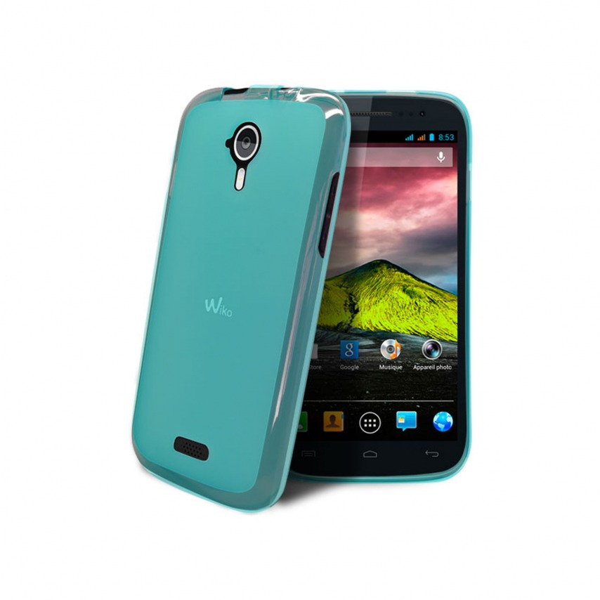 Frozen Ice Extra Slim soft blue case for Wiko Cink Five