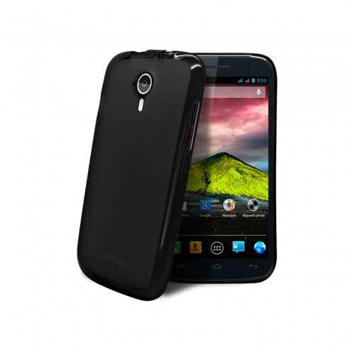 Frozen Ice Extra Slim soft Black opaque case for Wiko Cink Five