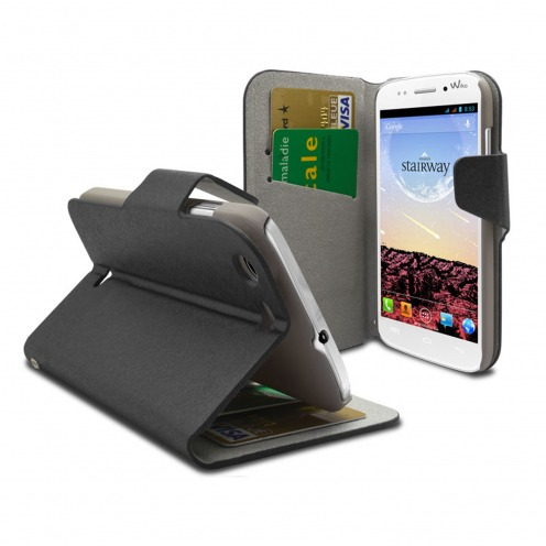 Smart Cover Wiko Stairway Papyrus Noire