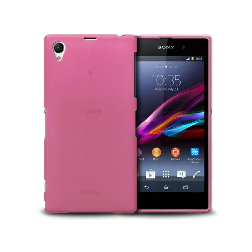 Photo réelle de Coque XPERIA Z1® Frozen Ice Extra Fine Rose